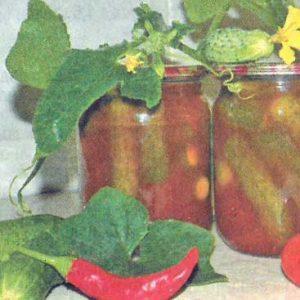 Огурцы с кетчупом «Чили»