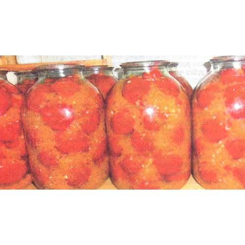 Помидоры в заливке из овощей: моркови, сладкого и острого перца