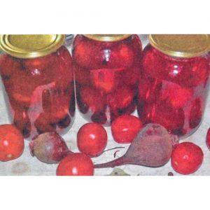 Маринованные томаты со свеклой