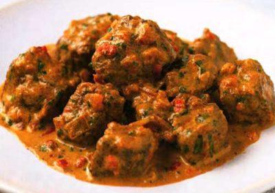 Индийская говядина карри с помидорами и сливками