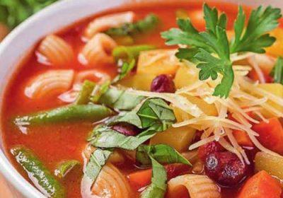 Суп из фасоли с пастой