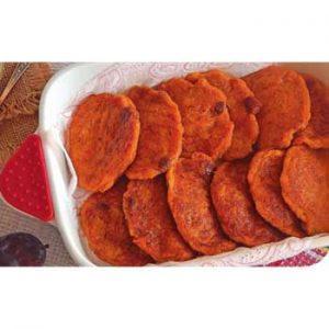 Постные оладьи из моркови с изюмом