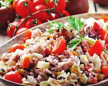 Теплый рисовый салат по-итальянски