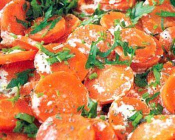 Запеченная морковь с йогуртом