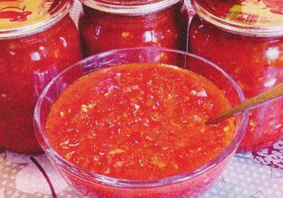 Томатный соус с яблоками и перцем