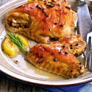 Курица гриль с лимоном и горчицей