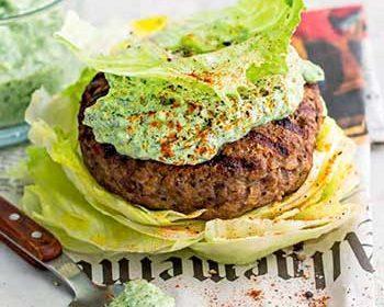 Кето-бургер в стиле люля-кебаб