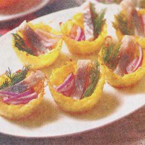 Закуска из лосося и картофеля «Рыбные корзинки»