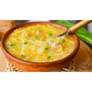 Крестьянский куриный суп с грибами ис затиркой