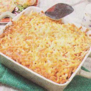 Запеканка с ветчиной и сыром Картофельная семейка