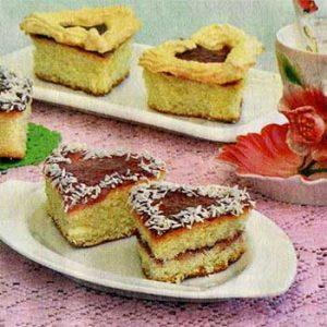 Пирожные «Валентинки»