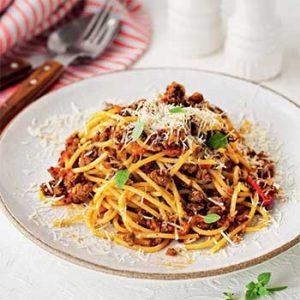 Спагетти с быстрым мясным соусом