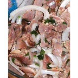 Закуска из маринованных куриных желудочков