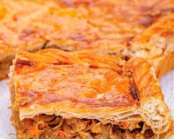 Рыбный пирог с капустой «Самый вкусный» на дрожжевом тесте
