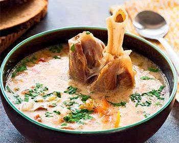 Чорба сербский суп с ягнятиной