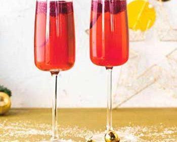 Малиновый коктейль с шампанским