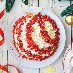 Слоеный салат «Новогодний шарик»
