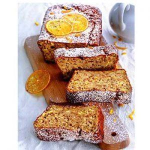 Апельсиновый кекс грецкими орехами