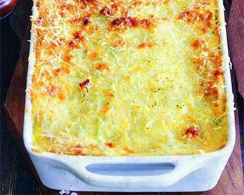 Запеканка из кабачков сыром и зеленью