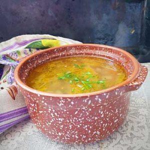 Суп гречневый с говядиной