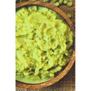 Картофельное пюре с зеленым горошком