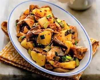 Постный салат грибами