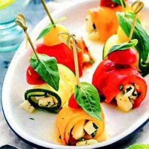 Инвольтини, рулетики из овощей с моцареллой
