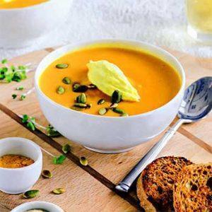 Тыквенный суп с кремом из маскарпоне
