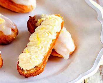 Эклеры с медово-лимонным маскарпоне