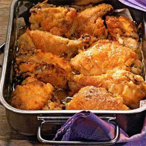 Цыпленок с лимонно-имбирной корочкой
