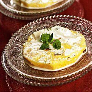 Нежный ананасовый десерт
