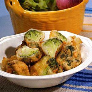 Пончики с цветной капустой и брокколи