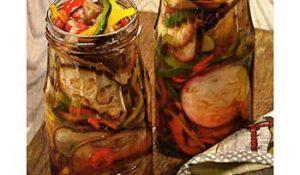 Баклажаны, консервированные с перцами