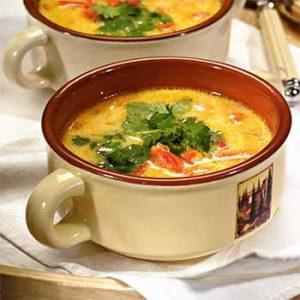 Сырный суп со сладкими перцами
