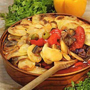 Баранина под картофельной «крышкой»