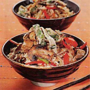 Рис по-бенгальски с шампиньонами