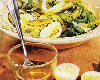 Картофельный салат с щавелем