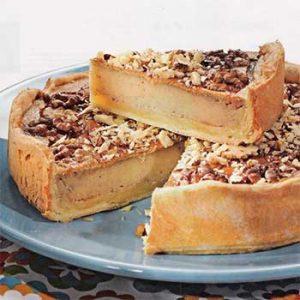 Пирог с бананом и грецкими орехами