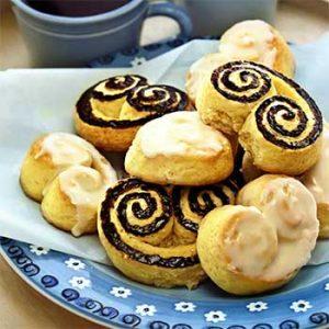 Берлинское печенье с лимонной и шоколадной глазурью