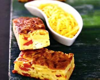 Сырный пирог с красным перцем
