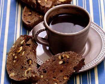 Шоколадные бискотти с фундуком