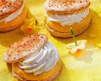 Кокосовое печенье с лимонным кремом