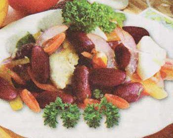 Салат из рыбы, шампиньонов и яиц «Для выходного»