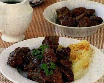 Печень в медово-соевом соусе