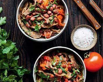 Рагу из говядины с фасолью
