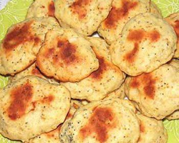 Мягкое печенье с грушей и маком