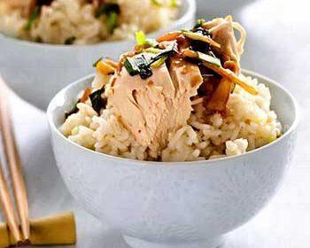 Чикен райс, сингапурский рис с курицей