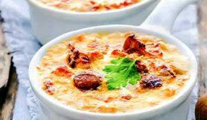 Жюльен из шампиньонов сыром