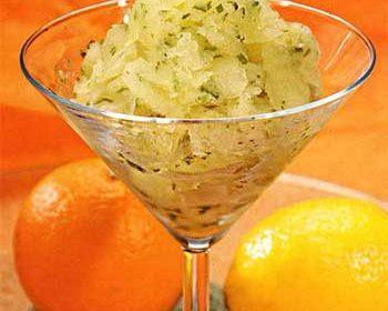 Лимонное сорбе с базиликом