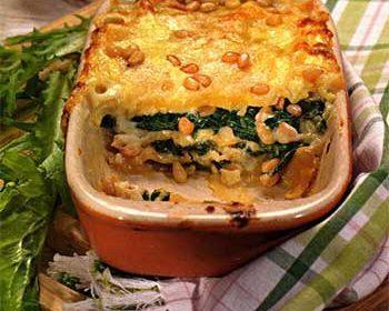 Сырная лазанья со шпинатом